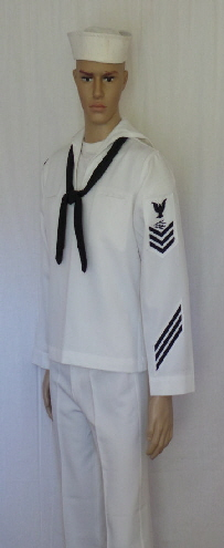Navy service dress whites uniform